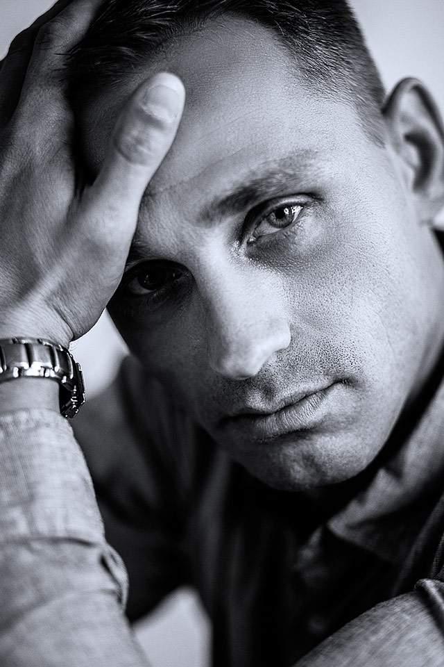 Portrait Mann schwarzweiss